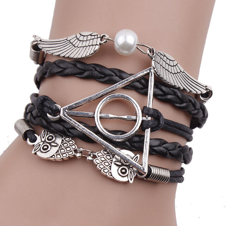 Fashionable Anchor Hand Knitting Deathly Hallows Bracelet