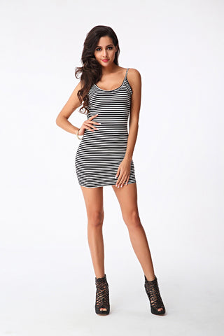 New  Sexy Backless Knitted Package Hip Dress