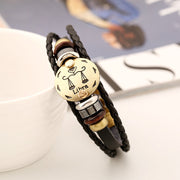 Libra Constellation Leather Bracelet