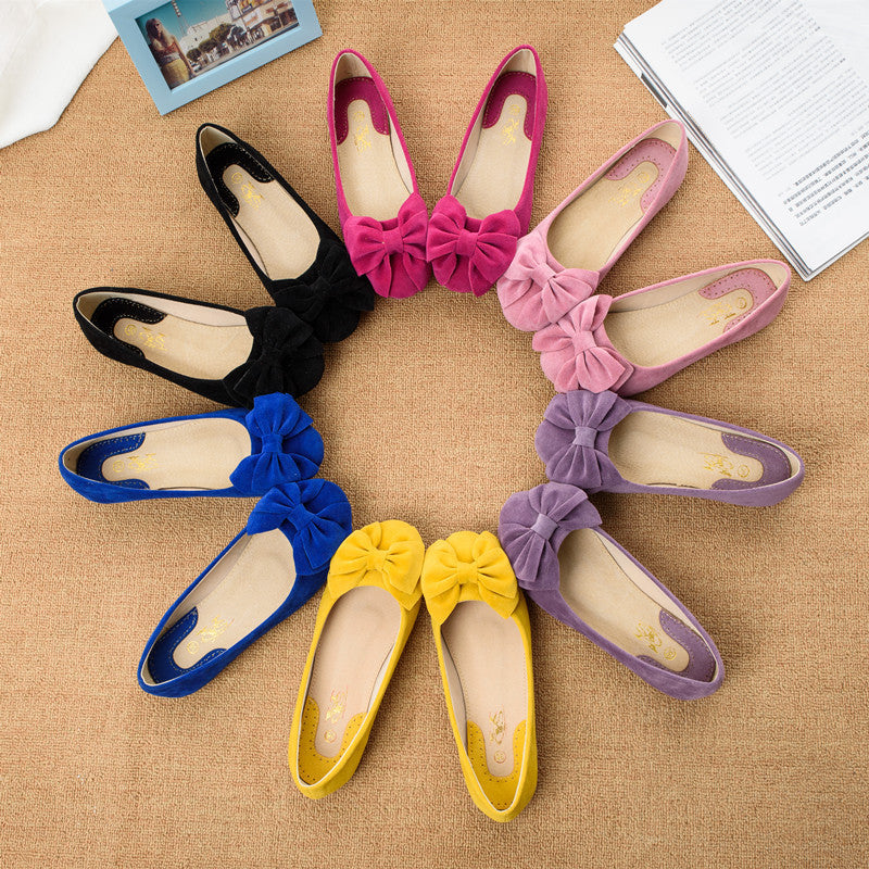 Creative Bowknot Suede Comfortable Flat Shoes Sneaker - MeetYoursFashion - 4