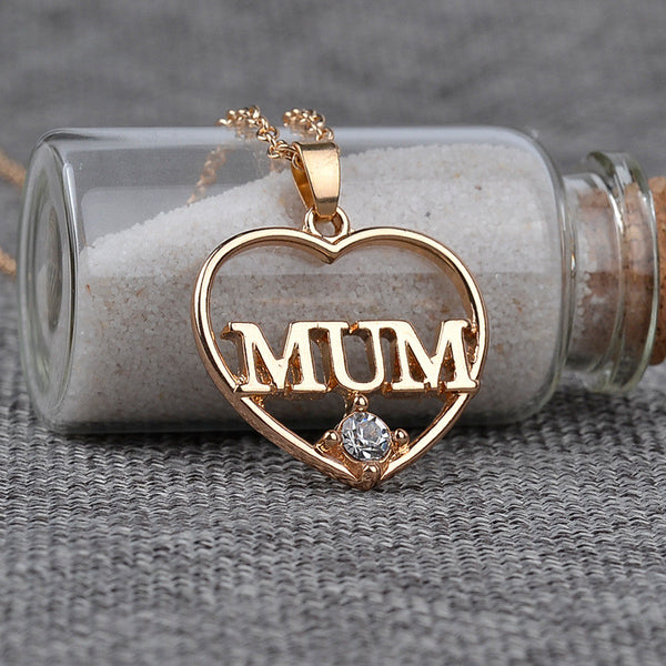 Explosion Models MUM Love Heart Pendant Necklace