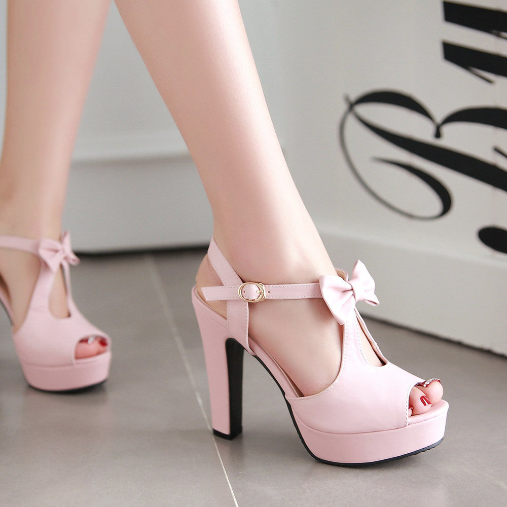 c1f452c1cbcc ... Cute Street Style Peep Toe Bow High Heel Sandals - MeetYoursFashion - 6  ...