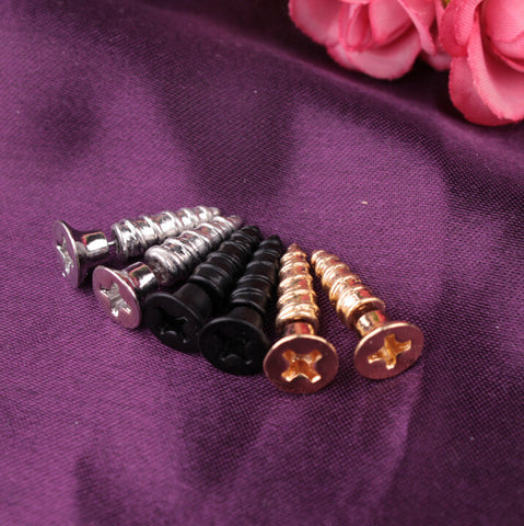 Personality Screw Shape Through Earring