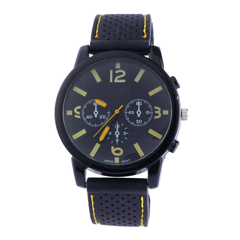 Silicone Sports Three Eyes Watch