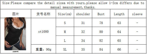 Lace Patchwork Sleeveless Slim Scoop Sexy Vest - Meet Yours Fashion - 3