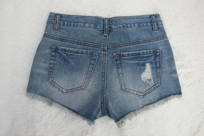 Low Waist Rough Edges Holes Split Hot Shorts - Meet Yours Fashion - 4