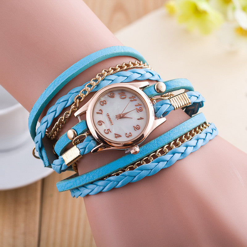 Bright Color Multilayer Woven Watch