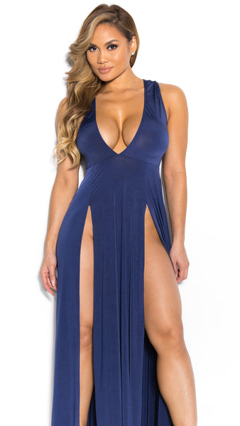 Deep V-neck Sleeveless Split Sexy Long Dress - Meet Yours Fashion - 8