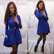 Fashion Loose Irregular Pure Color Dress