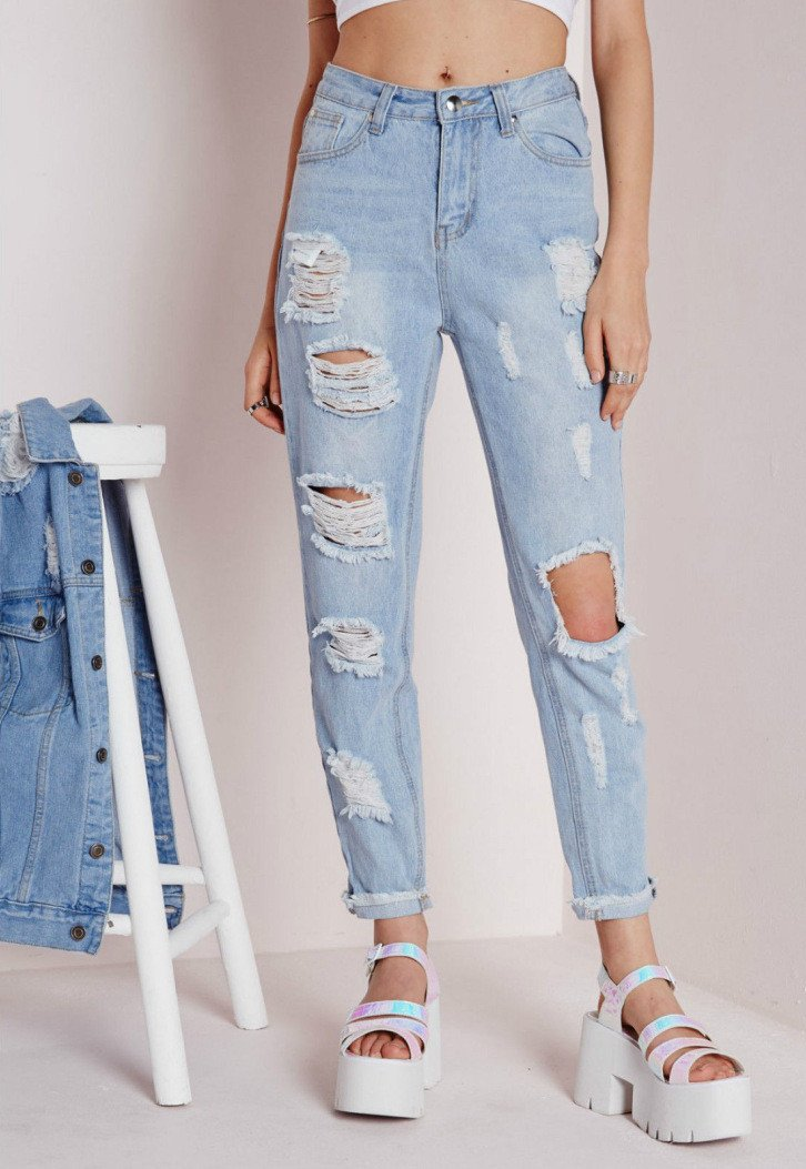 Sexy Cut Out Straight Beggar Jeans - Meet Yours Fashion - 3