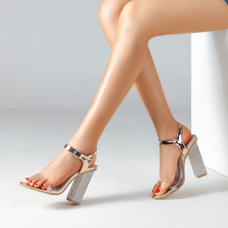Diamond heel shoes