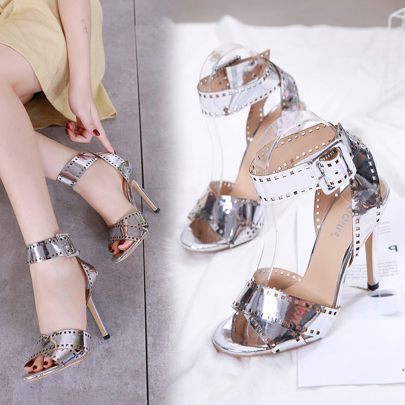 Film element high heel sandals