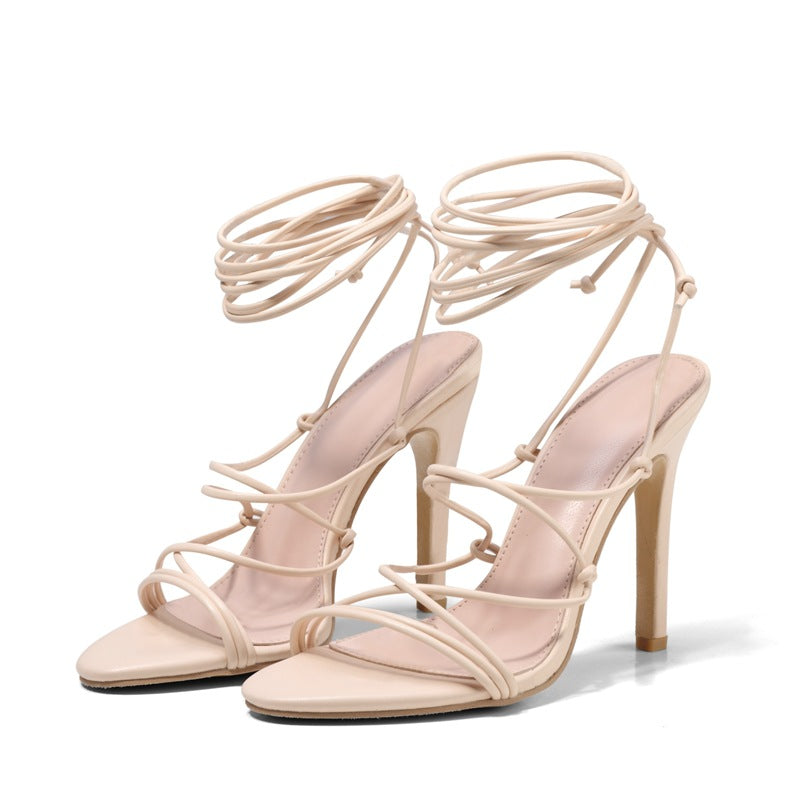 Strapped heel sandals