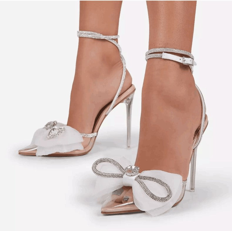 Bow diamond sandals
