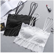 High elastic force Lace Spaghetti Strap Crop Top Sexy Vest