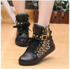 Street Lace Up Rivet Skull Leopard Print Sports Sneakers - MeetYoursFashion - 3