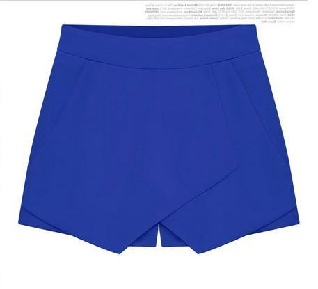 Cross Over High Waist Pure Color Shorts - Meet Yours Fashion - 6