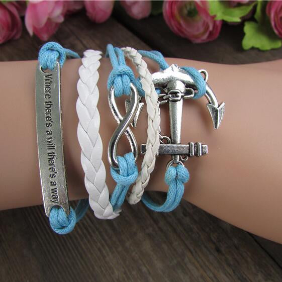 Multilayer Beautiful Hand Knitting Christmas Bracelet
