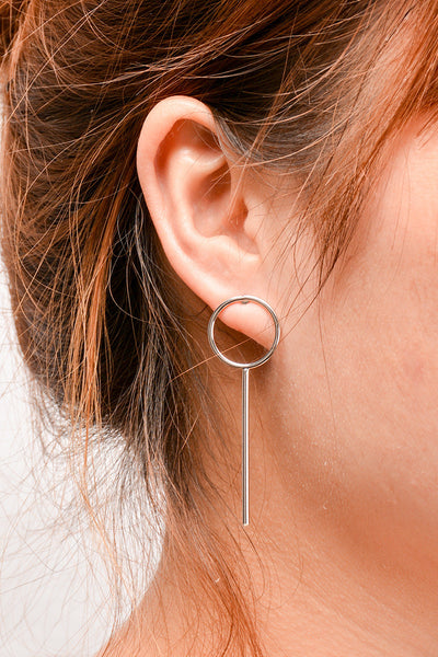 Elegant Copper Circle Tassel Earrings