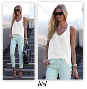 Pure Color Scoop Casual Sleeves Street Chic Vest - Meet Yours Fashion - 4