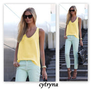 Pure Color Scoop Casual Sleeves Street Chic Vest - Meet Yours Fashion - 5