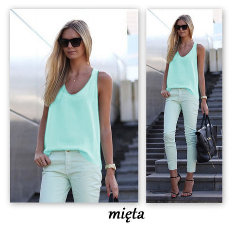 Pure Color Scoop Casual Sleeves Street Chic Vest - Meet Yours Fashion - 8