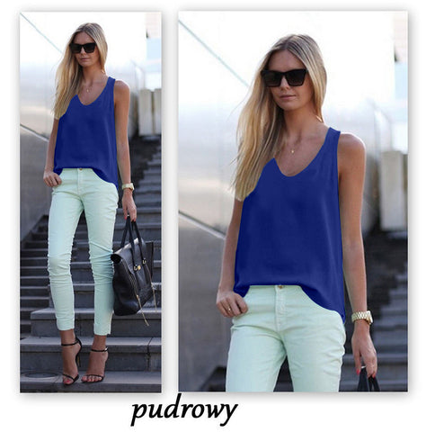 Pure Color Scoop Casual Sleeves Street Chic Vest - Meet Yours Fashion - 7