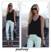 Pure Color Scoop Casual Sleeves Street Chic Vest - Meet Yours Fashion - 6