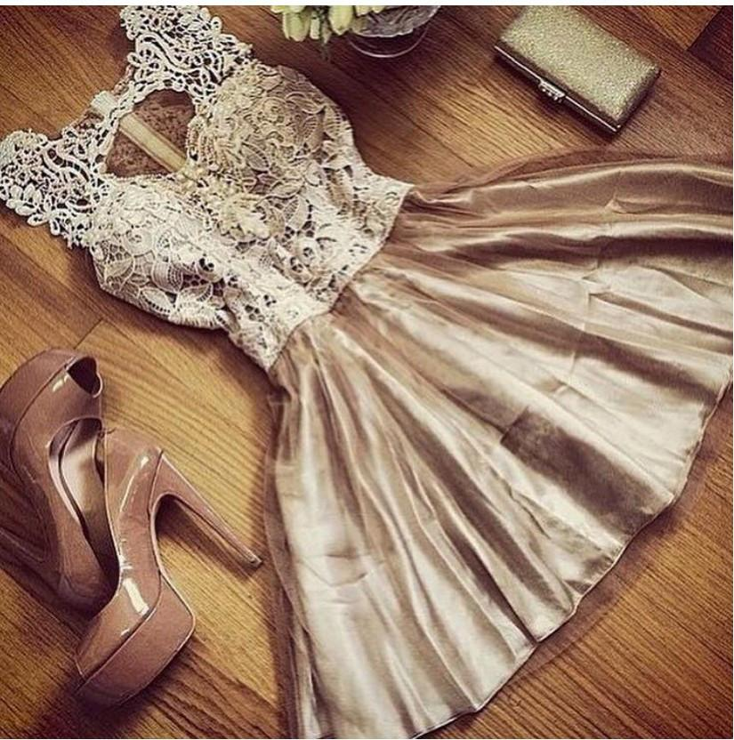 Sleeveless Scoop Golden Laces Patchwork Dress - Meet Yours Fashion - 1