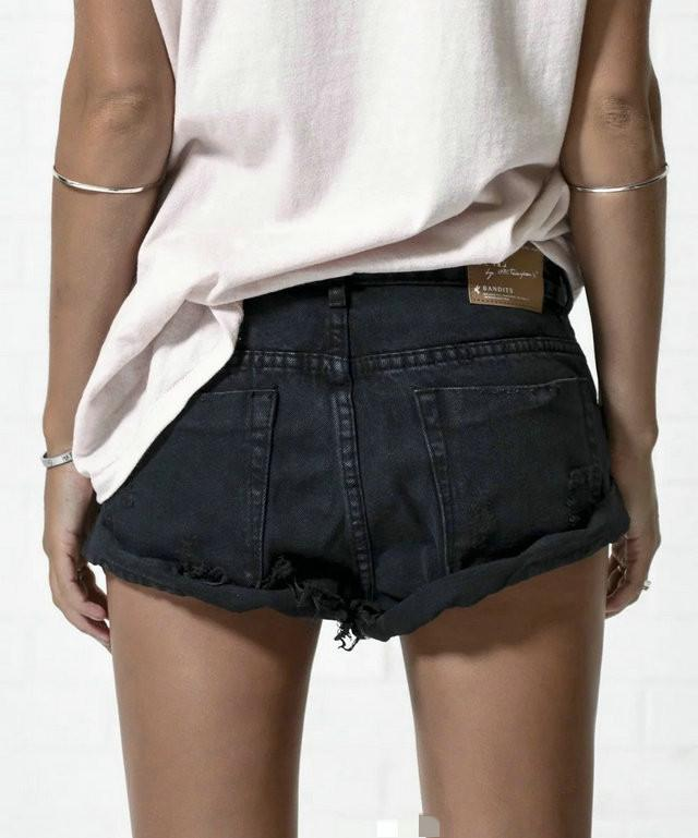 Hot Hole Ripped Tassel Rough Edges Shorts - Meet Yours Fashion - 8