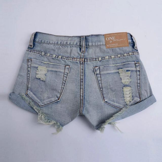 Hot Hole Ripped Tassel Rough Edges Shorts - Meet Yours Fashion - 10