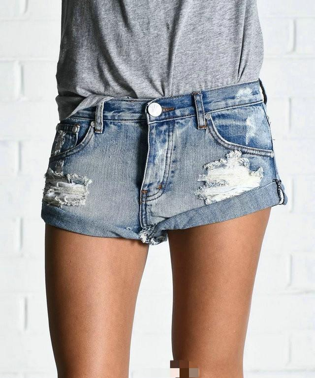 Hot Hole Ripped Tassel Rough Edges Shorts - Meet Yours Fashion - 6