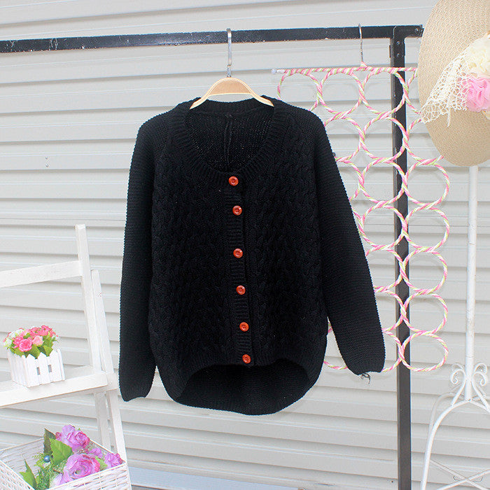 Cardigan Pure Color Elbow Patch Knit Sweater - Meet Yours Fashion - 3
