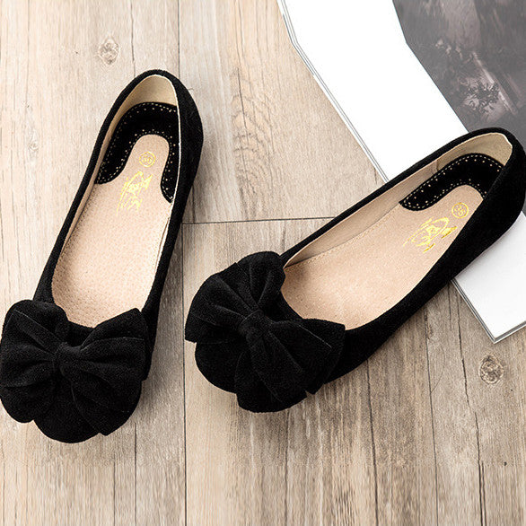 Creative Bowknot Suede Comfortable Flat Shoes Sneaker - MeetYoursFashion - 10