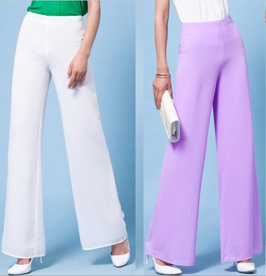Fashion Chiffon High Waist Wide Leg Pants