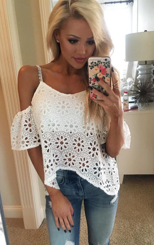 spaghetti-strap-hollow-out-off-shoulder-irregular-lace-blouse