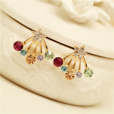Daisy Flower Crystal Charming Earring