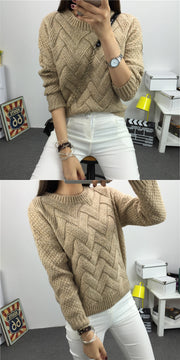 Dropped Shoulder Scoop 3/4 Sleeves Solid Pullover Sweater - Meet Yours Fashion - 7