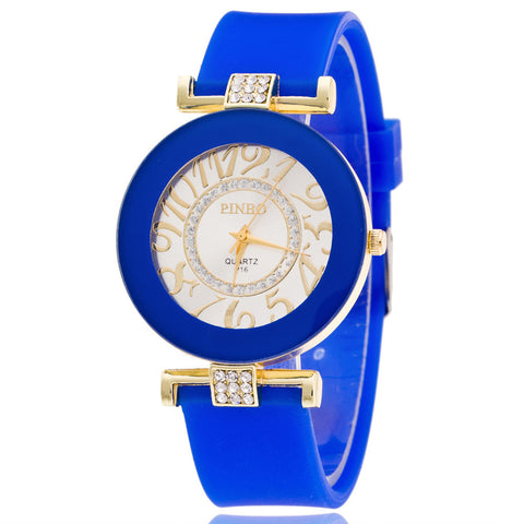 Crystal Digital Silicone Watch