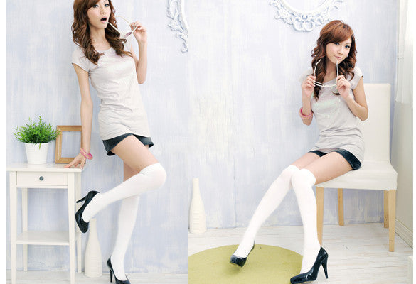 Over the Knee Thinner Cotton Socks - MeetYoursFashion - 10