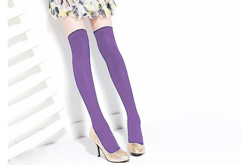 Over the Knee Thinner Cotton Socks - MeetYoursFashion - 15