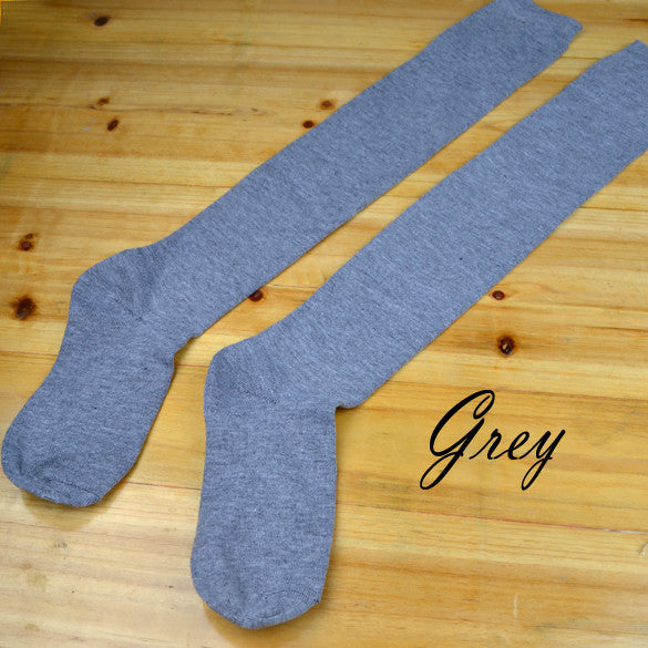 Over the Knee Thinner Cotton Socks - MeetYoursFashion - 4