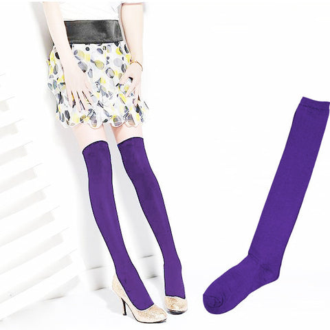 Over the Knee Thinner Cotton Socks - MeetYoursFashion - 3