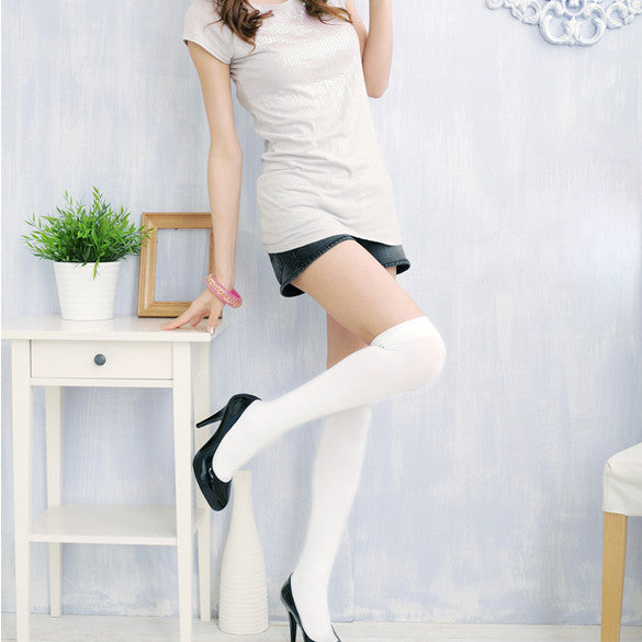 Over the Knee Thinner Cotton Socks - MeetYoursFashion - 2