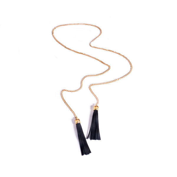 Contracted Joker Long Tassels Necklace