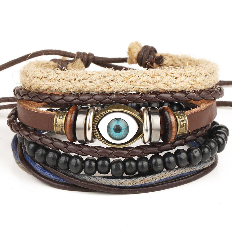 Retro Eyes Adjustable Woven Bracelet