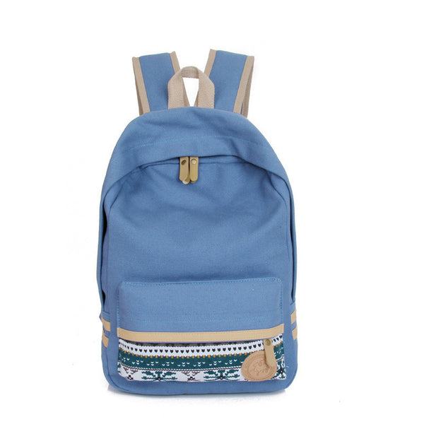 Fashion Street Style Print School Backpack Canvas Bag - Meet Yours Fashion - 4