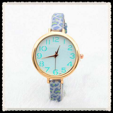 Fashoin Leopard Print Leather Watch