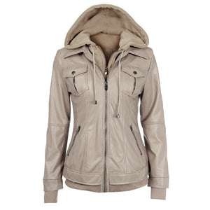 Faux Twinset Pocket Woman Jacket with Removable Hat on - Meet Yours Fashion - 4