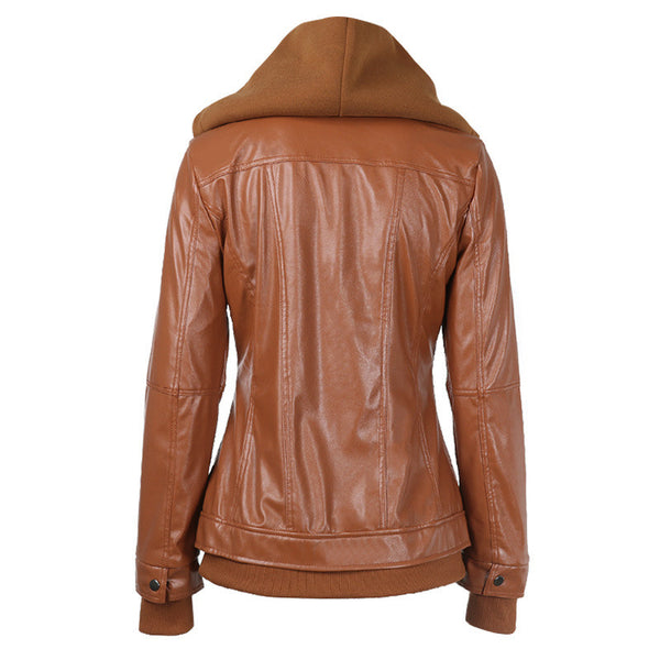 Faux Twinset Pocket Woman Jacket with Removable Hat on - Meet Yours Fashion - 9